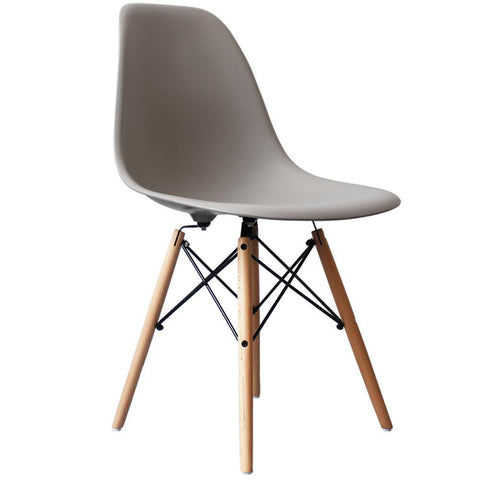 CHARLES EAMES Style Cool Grey Plastic Retro DSW Side Chair - directhomeliving