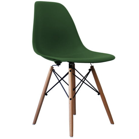 CHARLES EAMES Style Emerald Plastic Retro DSW Side Chair - directhomeliving