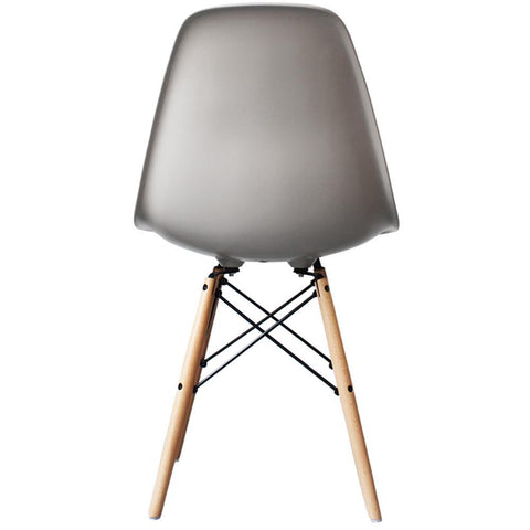 CHARLES EAMES Style Cool Grey Plastic Retro DSW Side Chair