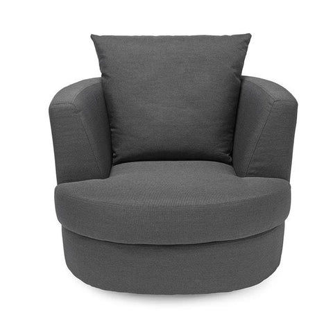 Bliss Small Grey Swivel Chair - directhomeliving