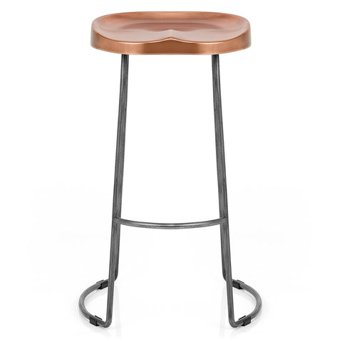 Coppertop Cast Iron Bar Stool