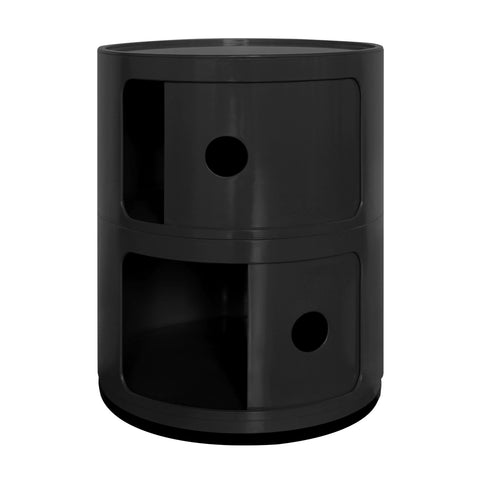 Componibili 2 Tier Black Storage Unit - directhomeliving