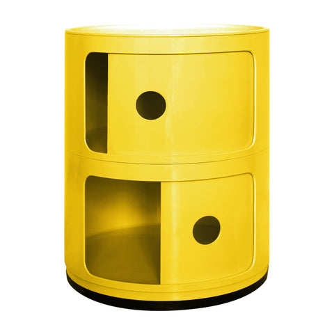 Componibili 2 Tier Yellow Storage Unit - directhomeliving