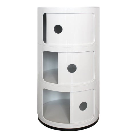 Componibili 3 Tier White Storage Unit - directhomeliving