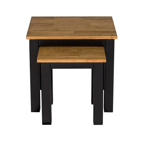 Copenhagen Black Frame Nest of 2 Tables - directhomeliving