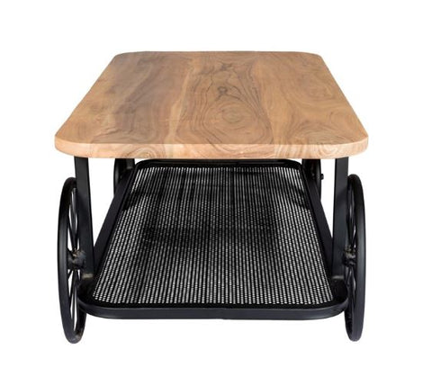 Craft Wheel Industrial Coffee Table - directhomeliving