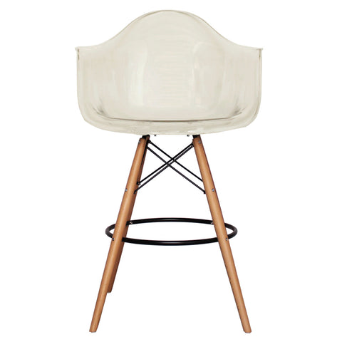 CHARLES EAMES Style Ghost Smoke Plastic Retro DAB Bar Stool - directhomeliving