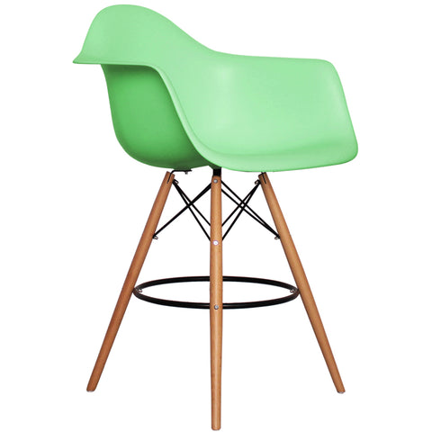 CHARLES EAMES Style Peppermint Plastic Retro DAB Bar Stool - directhomeliving