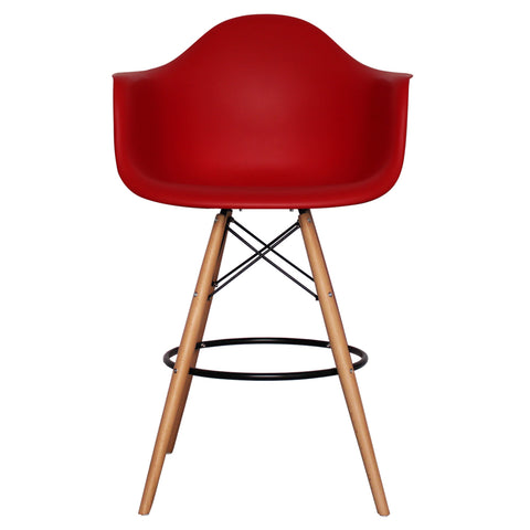 CHARLES EAMES Style Red Plastic Retro DAB Bar Stool - directhomeliving