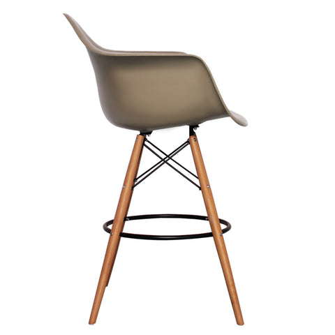 CHARLES EAMES Style Slate Plastic Retro DAB Bar Stool - directhomeliving