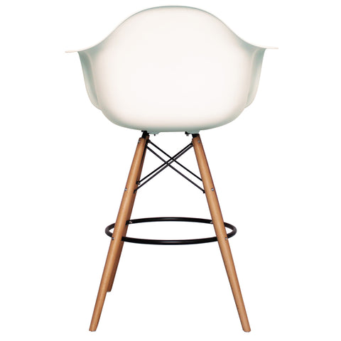 CHARLES EAMES Style White Plastic Retro DAB Bar Stool - directhomeliving