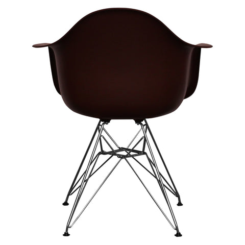 CHARLES EAMES Style Coffee Plastic Retro DAR Armchair - directhomeliving