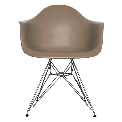 CHARLES EAMES Style Slate Plastic Retro DAR Armchair - directhomeliving
