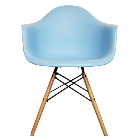 CHARLES EAMES Style Blue Plastic Retro DAW Armchair - directhomeliving