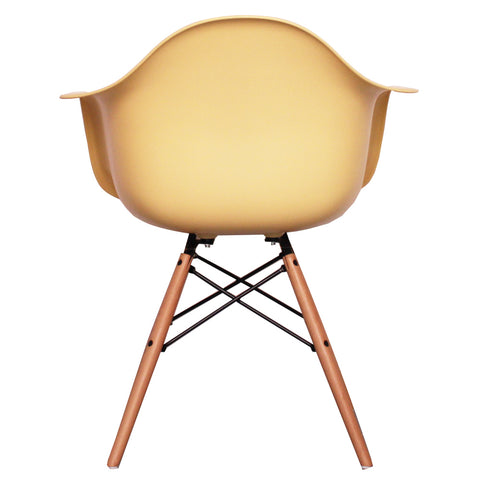 CHARLES EAMES Style Cream Plastic Retro DAW Armchair - directhomeliving