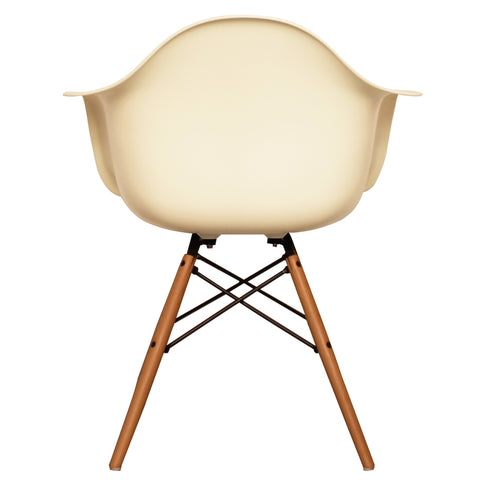 CHARLES EAMES Style Vanilla Plastic Retro DAW Armchair - directhomeliving