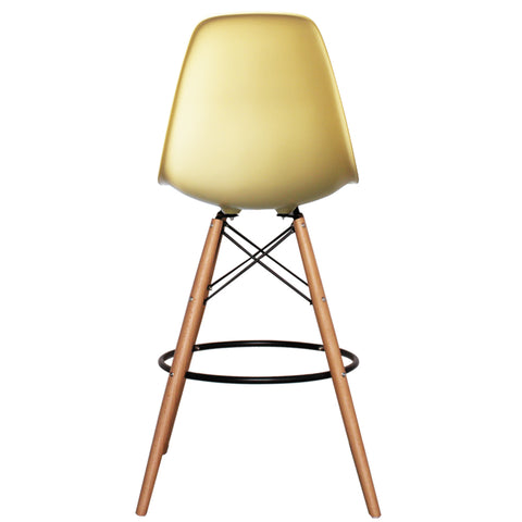 CHARLES EAMES Style Cream Plastic Retro DSB Bar Stool - directhomeliving