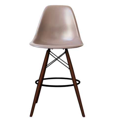 CHARLES EAMES Style Slate Plastic Retro Walnut DSB Bar Stool - directhomeliving