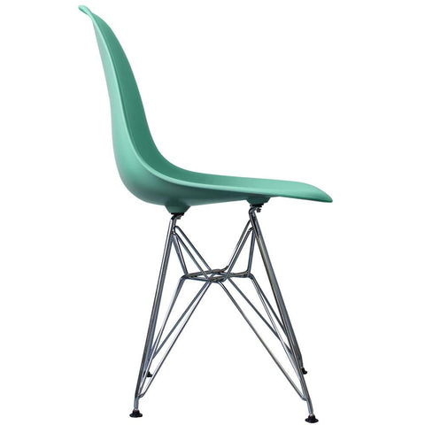 CHARLES EAMES Style Aqua Plastic Retro DSR Side Chair - directhomeliving
