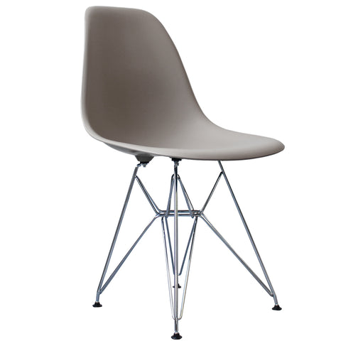 CHARLES EAMES Style Cool Grey Plastic Retro DSR Side Chair - directhomeliving