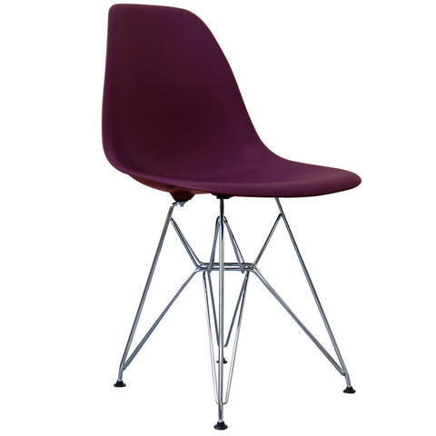 CHARLES EAMES Style Plum Plastic Retro DSR Side Chair