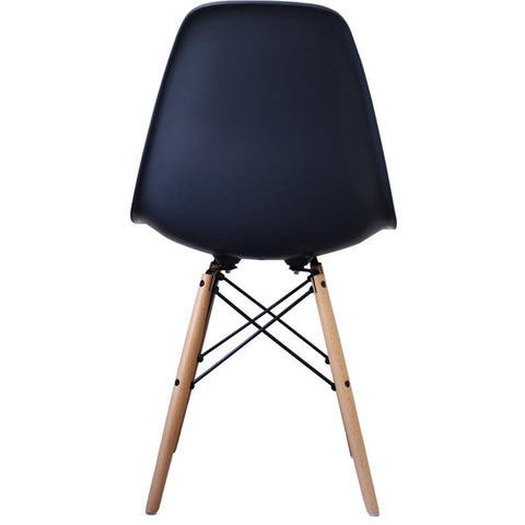 CHARLES EAMES Style Navy Blue Plastic Retro DSW Side Chair - directhomeliving