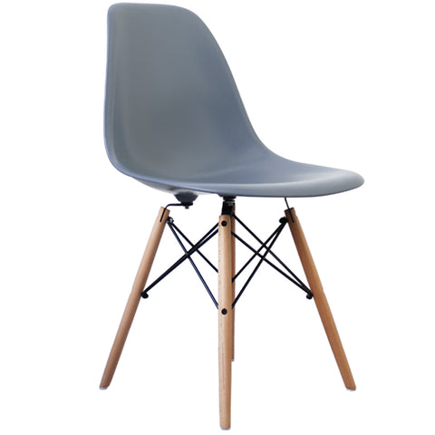 CHARLES EAMES Style Steel Blue Plastic Retro DSW Side Chair - directhomeliving