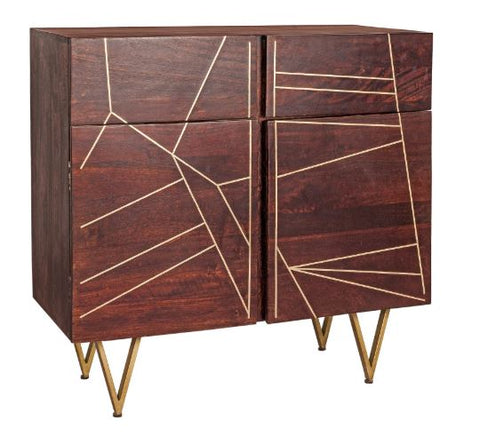 Dark Gold 2 Door Sideboard - directhomeliving