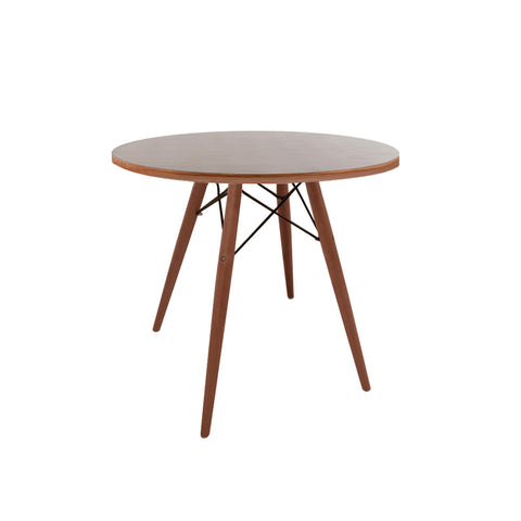 Eames Style 70cm Walnut Round Dining Table - directhomeliving