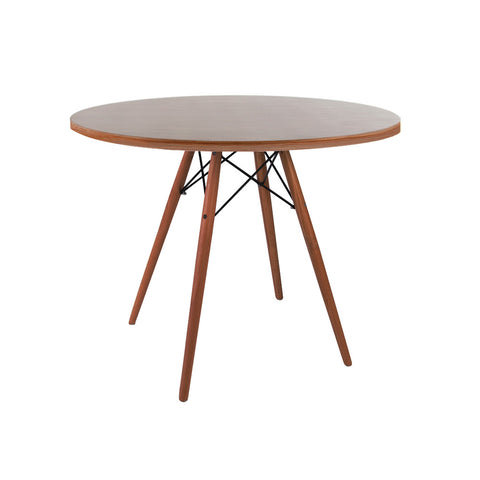Eames Style 90cm Walnut Round Dining Table - directhomeliving