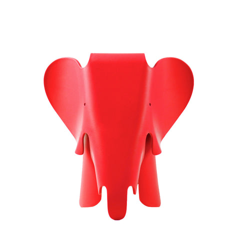 Eames Style Red Plastic Trendy Elephant - directhomeliving