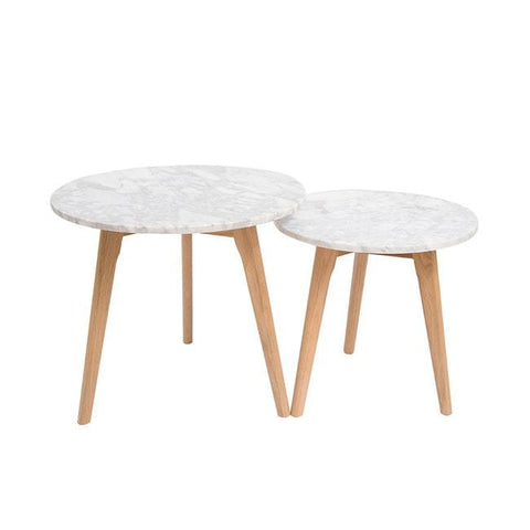 Harlow Marble Nest of 2 Tables - directhomeliving