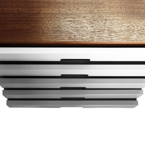 Harmonia Grey Drawer Walnut Sideboard - directhomeliving