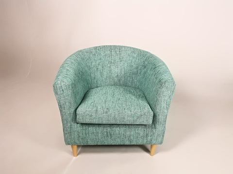 Acton Turquoise Tub Chair - COLLECTION ONLY - directhomeliving