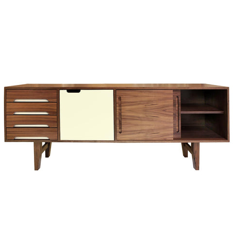 Kensington Vanilla Door Walnut Sideboard - directhomeliving