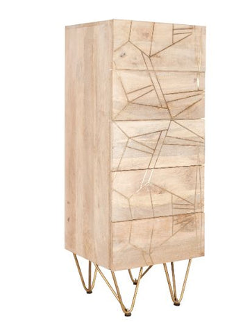 Light Gold Tall Chest of Drawers - directhomeliving