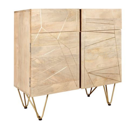 Light Gold 2 Door Sideboard - directhomeliving