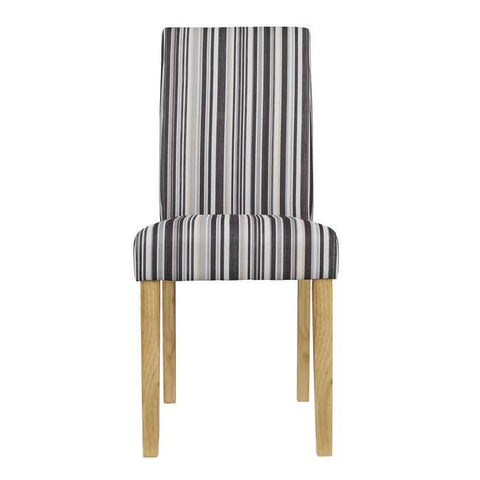 Lorenzo Striped Dining Chair (Pack of 2) - directhomeliving