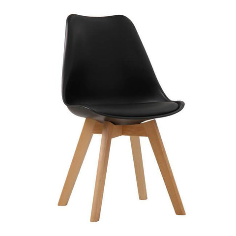 Louvre Black Chair (Pack of 2) - directhomeliving