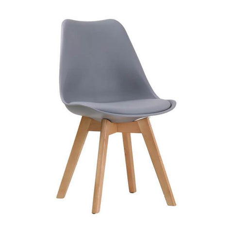 Louvre Grey Chair (Pack of 2) - directhomeliving
