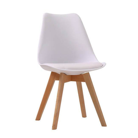 Louvre White Chair (Pack of 2) - directhomeliving
