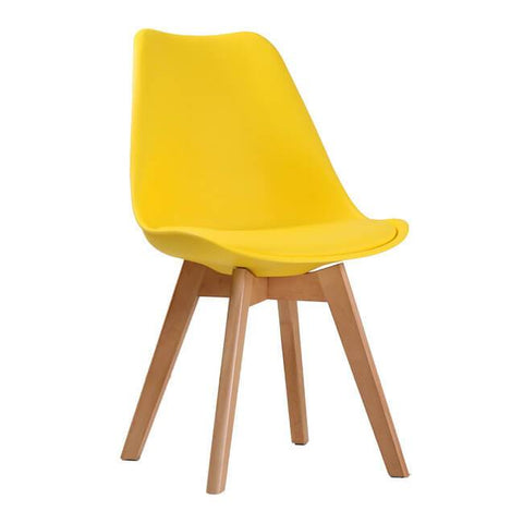 Louvre Yellow Chair (Pack of 2) - directhomeliving