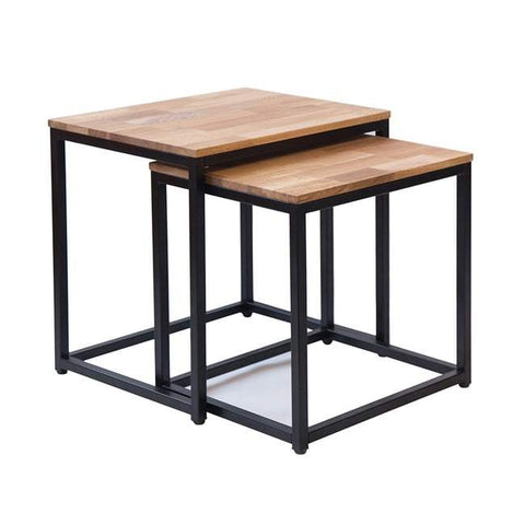 Mirelle Black Nest of 2 Tables - directhomeliving