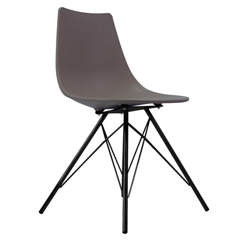 CHARLES EAMES Style Slate Plastic N-DSR Side Chair with Black Legs - directhomeliving