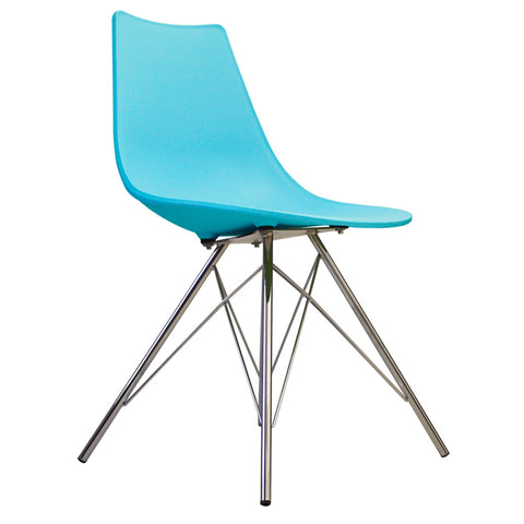 CHARLES EAMES Style Pearl Blue Plastic N-DSR Side Chair - directhomeliving