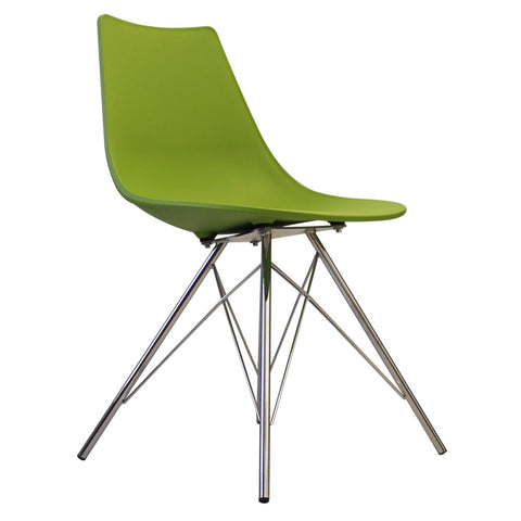 CHARLES EAMES Style Green Plastic N-DSR Side Chair - directhomeliving