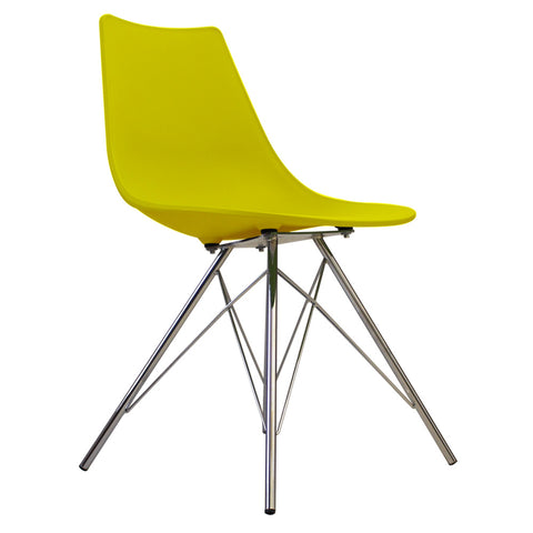 CHARLES EAMES Style Lime Plastic N-DSR Side Chair - directhomeliving