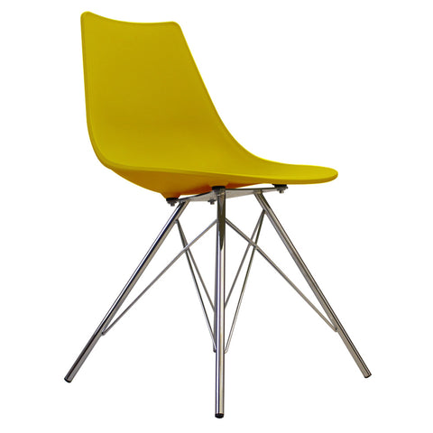 CHARLES EAMES Style Mustard Plastic N-DSR Side Chair - directhomeliving