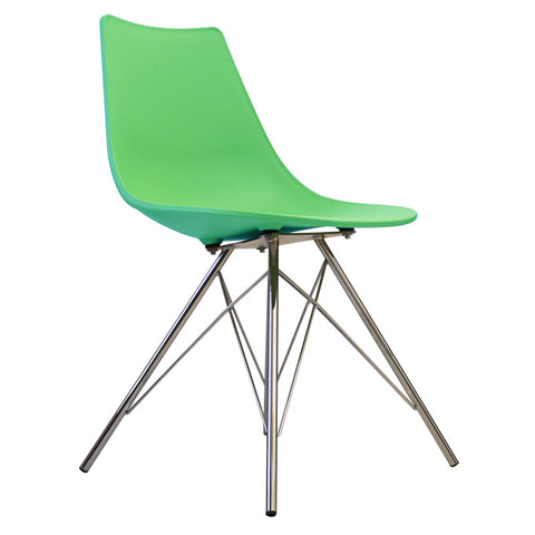 CHARLES EAMES Style Peppermint Plastic N-DSR Side Chair - directhomeliving