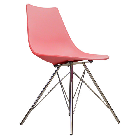CHARLES EAMES Style Pink Plastic N-DSR Side Chair - directhomeliving